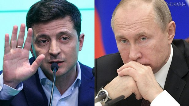 Фото - Владимир Зеленский и Владимир Путин