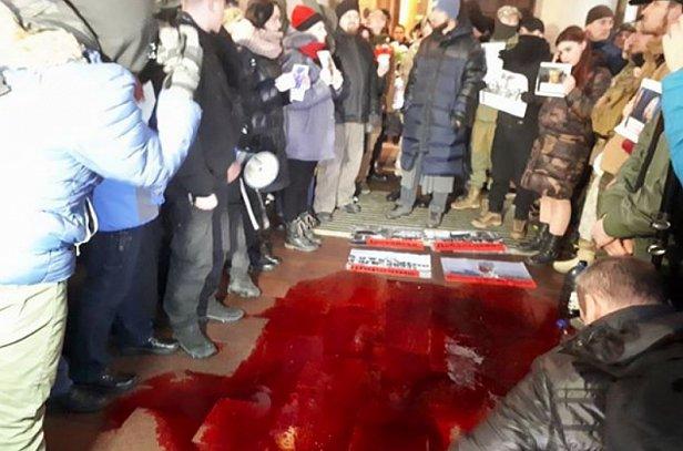 """""""Коридор позора"""": Билык во Львове заставили сказать, что она думает об агрессии России (видео)"""