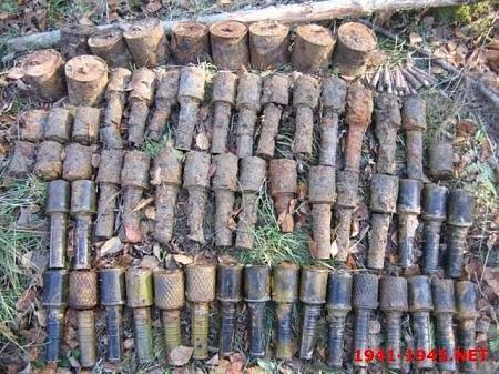 В центре Одессы нашли 26 гранат времен Второй мировой войны