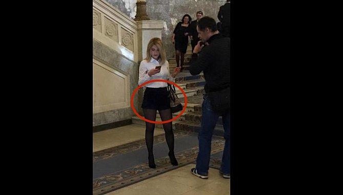 Журналистка в очень коротких шортах пришла в Раду. Фотофакт