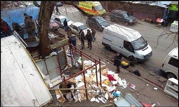 В Киеве на радиорынке демонтировали МАФы