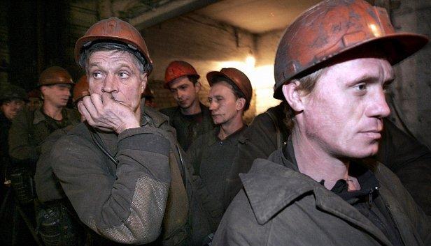 На фото  - шахтеры