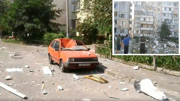 Пять минут после взрыва: первые кадры разрушений дома на Позняках