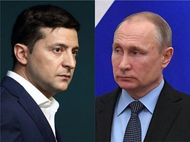 Фото — Зеленский и Путин