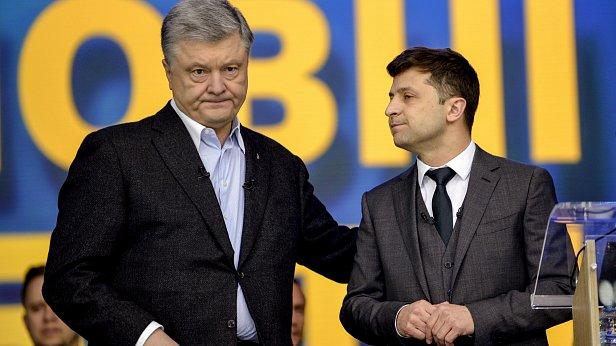 Фото - Пётр Порошенко и Владимир Зеленский