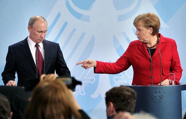 Фото - Путин и Меркель