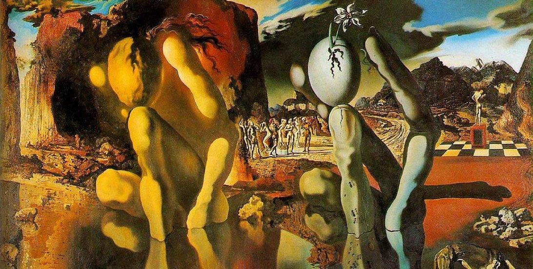 Сальвадор Дали, «Метамарфозы Нарцисса», 1936