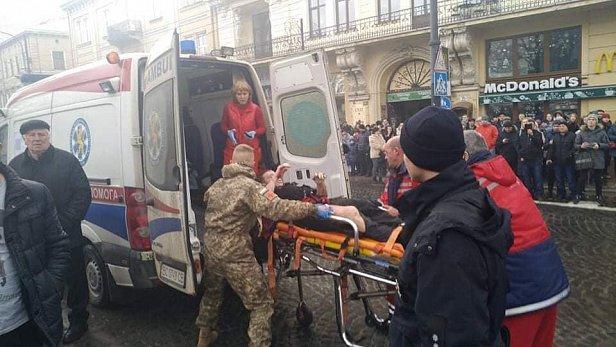Фото: Взрыв во Львове