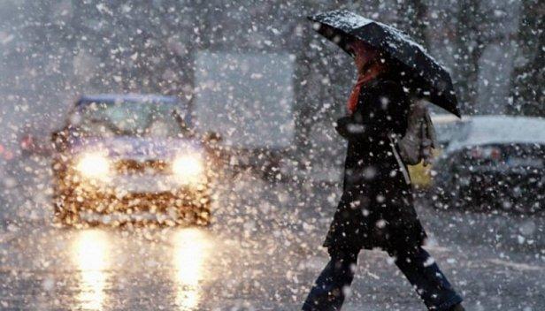 фото - снег с дождем