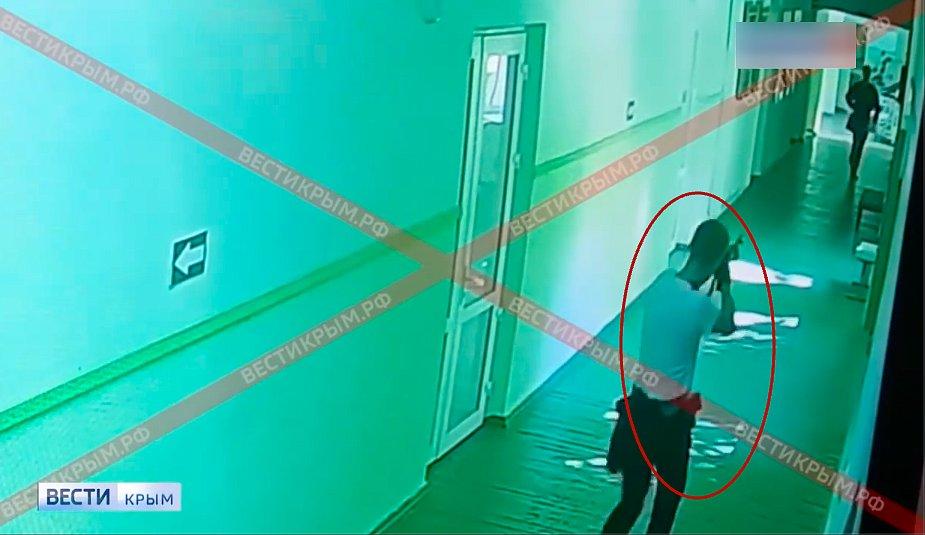 Появилось шокирующее видео с камер наблюдения стрельбы в Керчи (18+)