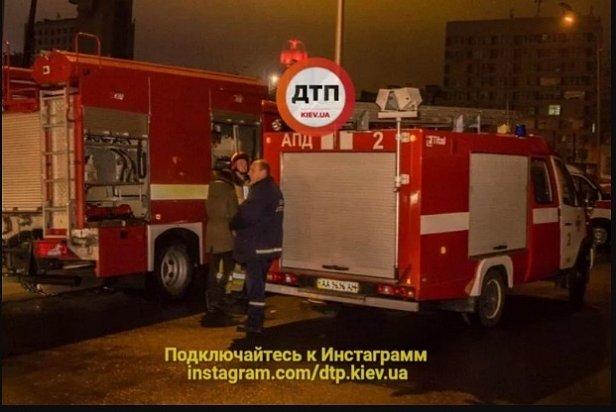 СРОЧНО: В центре Киева вспыхнула высотка (фото)