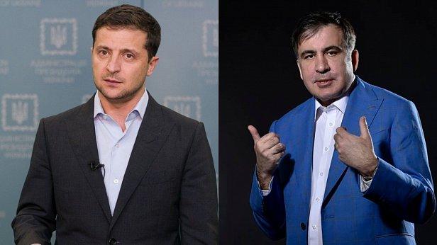 Фото — Зеленский и Саакашвили
