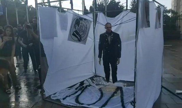 Фото - Под офисом Зеленского провели две акции