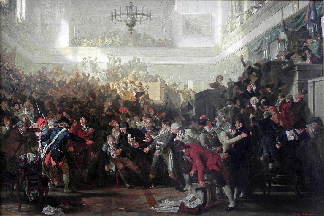 Макс Адамо, «Арест Робеспьера в Конвенте», 1870