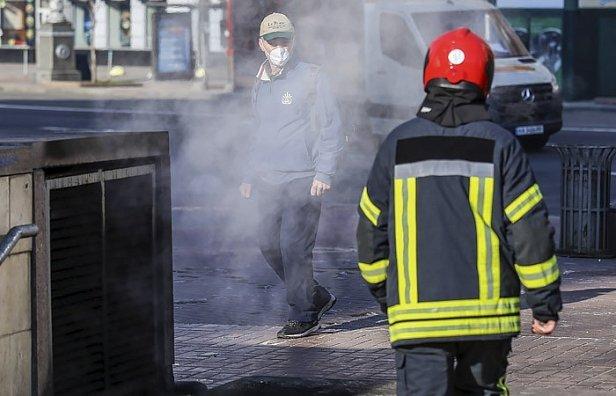 Фото — Задымление в Киеве