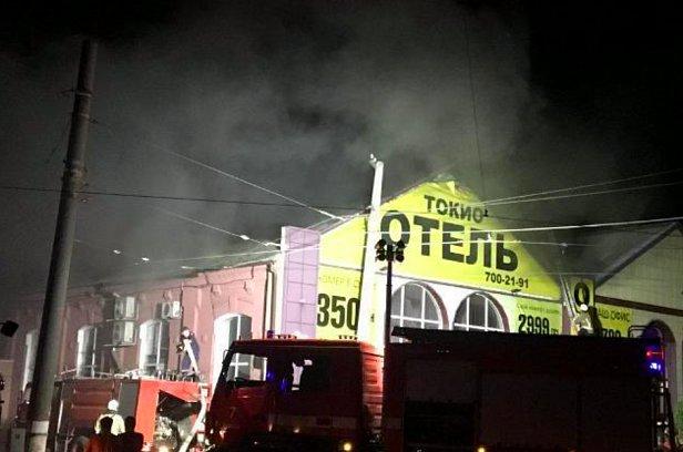 фото - пожар в Одессе в отеле