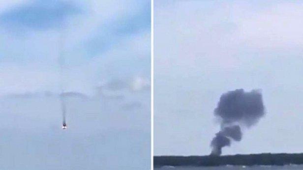 Фото - Момент крушения истребителей в Германии попал на видео