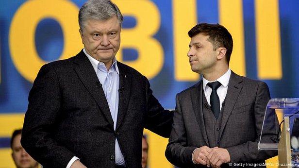 Фото - Петр Порошенко и Владимир Зеленский