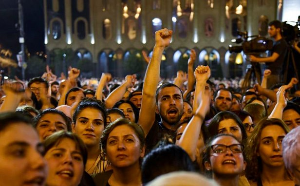 В Великобритании прошли протесты против Евровидения