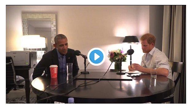 Принц Гарри взял интервью у Барака Обамы для радиостанции ВВС (видео)