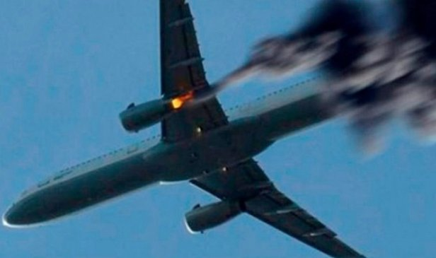 фото - упал самолет