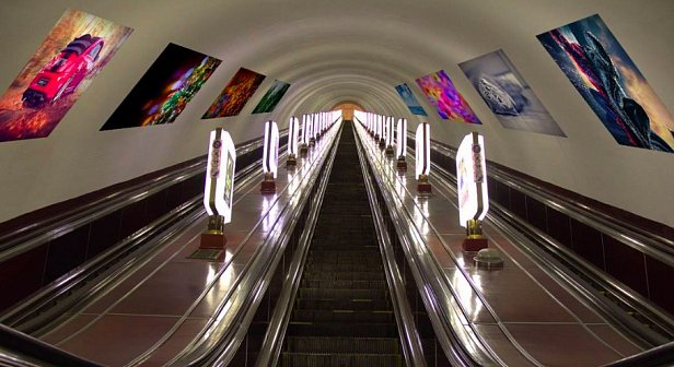 Виды рекламы в метро Киева