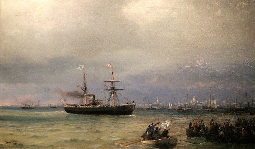 Иван Айвазовский, «Корабль помощи», 1892