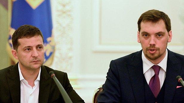 Фото — Владимир Зеленский и Алексей Гончарук