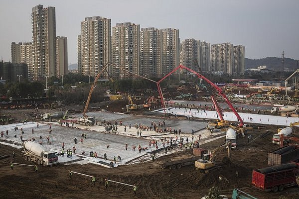 Фото - Строительство больницы в Китае