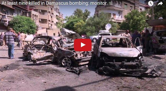Опубликовано видео с места мощного взрыва смертника в столице Сирии