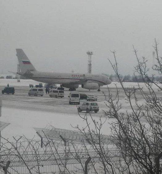 Самолёт из авиапарка Путина приземлился в «Борисполе»