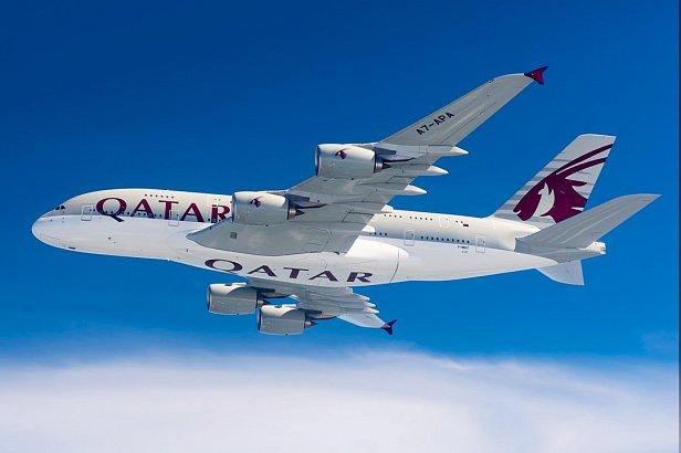 На фото Qatar Airways